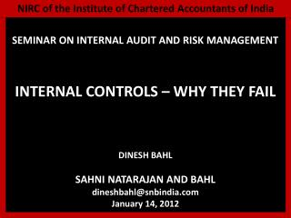 NIRC of the Institute of Chartered Accountants of India