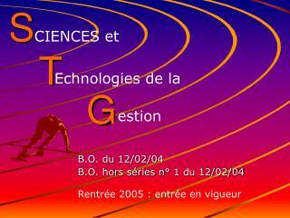 B.O. du 12/02/04 B.O. hors séries n° 1 du 12/02/04