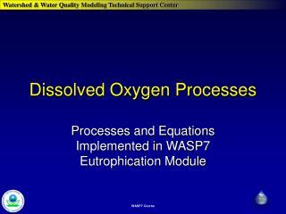 Dissolved Oxygen Processes