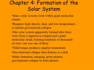 Chapter 4: Formation of the Solar System