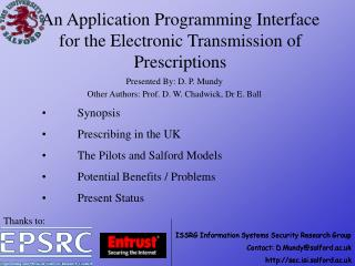 An Application Programming Interface for the Electronic Transmission of Prescriptions