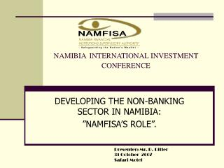 NAMIBIA INTERNATIONAL INVESTMENT CONFERENCE