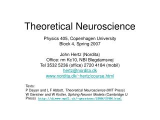 Theoretical Neuroscience