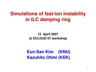 Simulations of fast-ion instability  in ILC damping ring