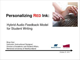 Personalizing  R ED  Ink:
