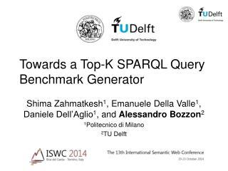 Towards a Top-K SPARQL Query Benchmark Generator