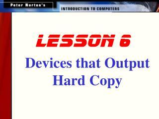 lesson 6
