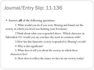 Journal/Entry Slip: 11-136