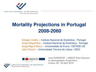 Mortality Projections in Portugal  2008-2060