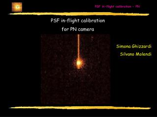 PSF in-flight calibration  for PN camera