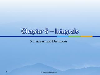 Chapter 5   Integrals