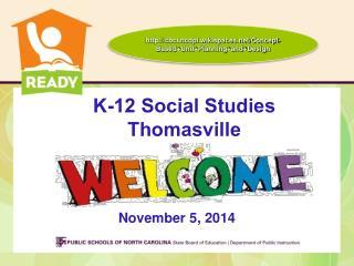 K-12 Social Studies  Thomasville