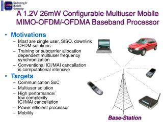 A 1.2V 26mW Configurable Multiuser Mobile MIMO-OFDM/-OFDMA Baseband Processor