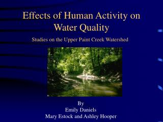 Effects of Human Activity on Water Quality