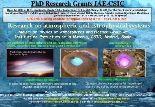 PhD Research Grants JAE-CSIC