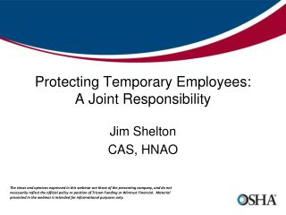 Protecting Temporary Employees: A Joint Responsibility