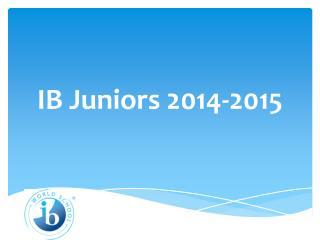 IB Juniors 2014-2015