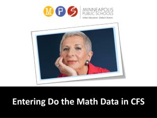 Entering Do the Math Data in CFS