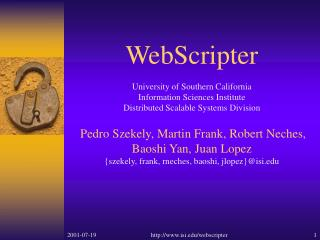 What's hot about WebScripter…