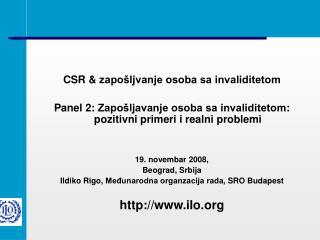 CSR &  zapošljvanje osoba sa invaliditetom