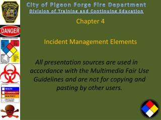 Chapter  4 Incident Management Elements