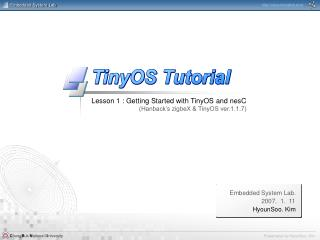 Lesson 1 : Getting Started with TinyOS and nesC (Hanback's zigbeX & TinyOS ver.1.1.7)