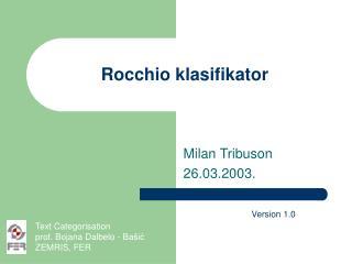 Rocchio klasifikator