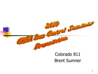 Colorado 811 Brent Sumner