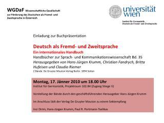 WGDaF  Wissenschaftliche Gesellschaft zur F�rderung des Deutschen als Fremd- und
