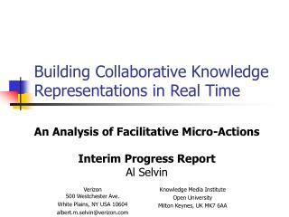 Building Collaborative Knowledge Representations in Real Time