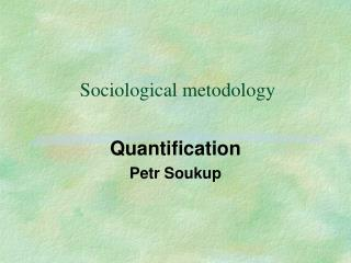 Sociological metodology