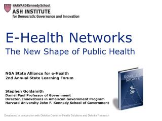 E-Health Networks The New Shape of Public Health