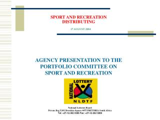 SPORT AND RECREATION DISTRIBUTING