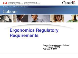 Ergonomics Regulatory Requirements