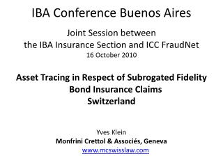 IBA Conference Buenos Aires
