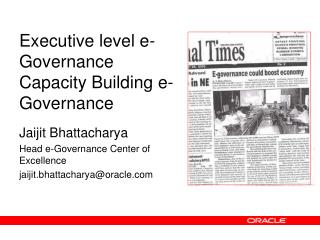 Executive level e-Governance Capacity Building e-Governance