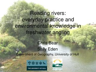 Reading rivers: everyday practice and environmental knowledge in freshwater angling