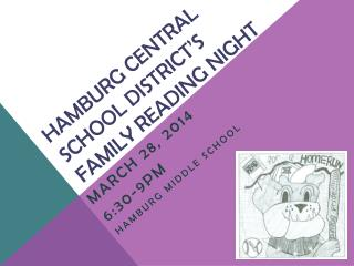 Hamburg central school district's FAMILY READING NIGHT
