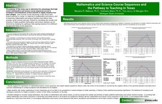 Mathematics and Science Course Sequences and  the Pathway to Teaching in Texas