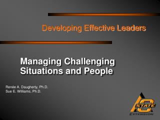 Developing Effective Leaders