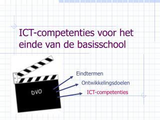 ICT-competenties voor het einde van de basisschool