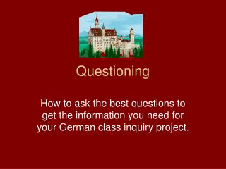 Questioning PowerPoint Presentation