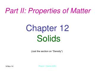 Chapter 12 Solids