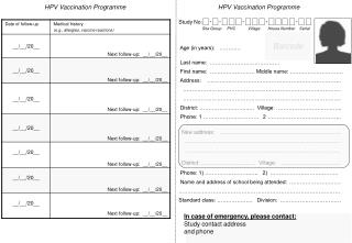 HPV Vaccination Programme