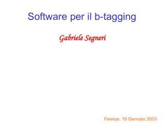Software per il b-tagging