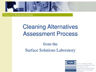 Cleaning Alternatives Assessment Process