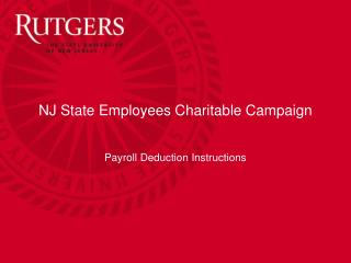 NJ State Employees Charitable Campaign