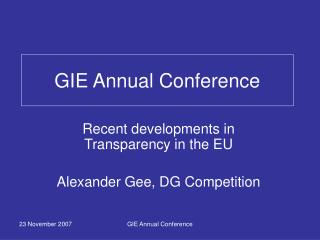 GIE Annual Conference