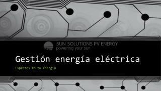 Gestión energía eléctrica