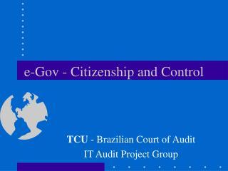 e-Gov - Citizenship and Control